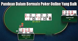 panduan bermain turnamen IDN poker online